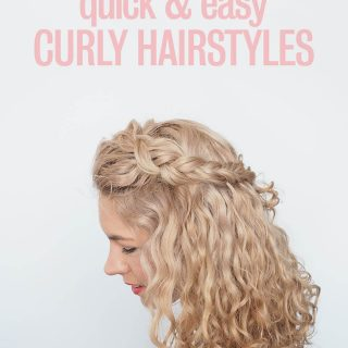 Style in under 90 seconds – Two easy curly hair tutorials