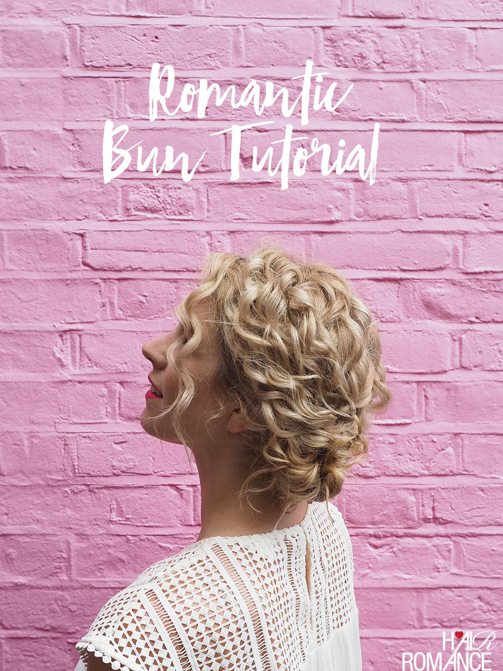 Hair Romance - How to do this quick romantic bun hairstyle tutorial