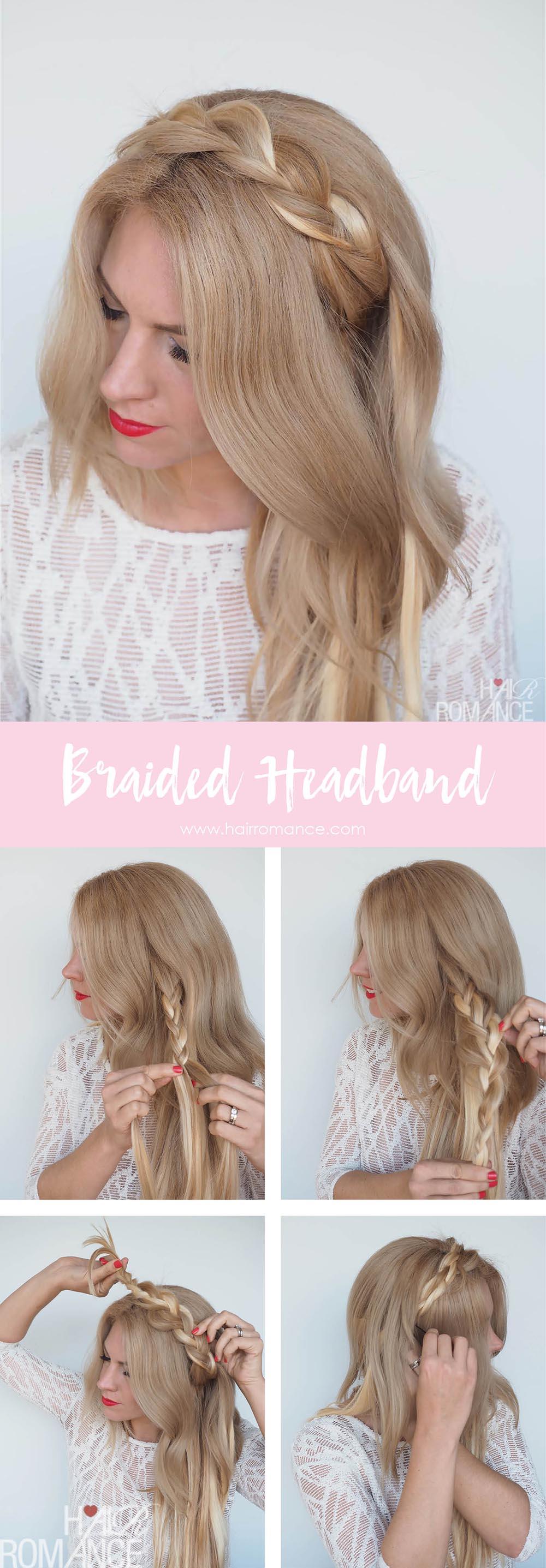 Braided Headband Hairstyle Tutorial Hair Romance