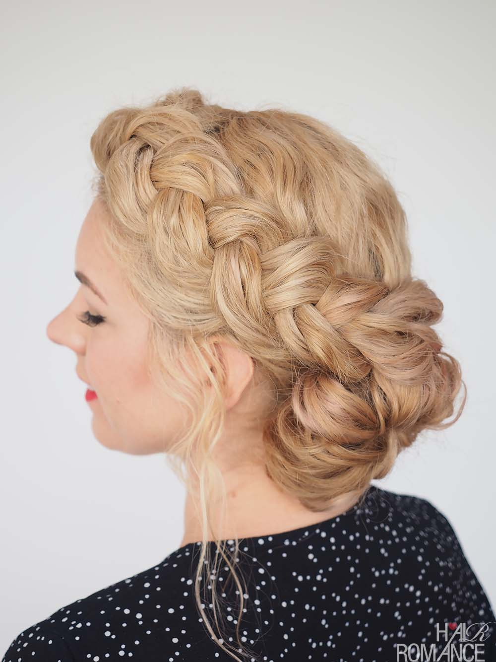 Hair Romance - Great Hair Fast - Braid Tutorial for Messy Curly Hair