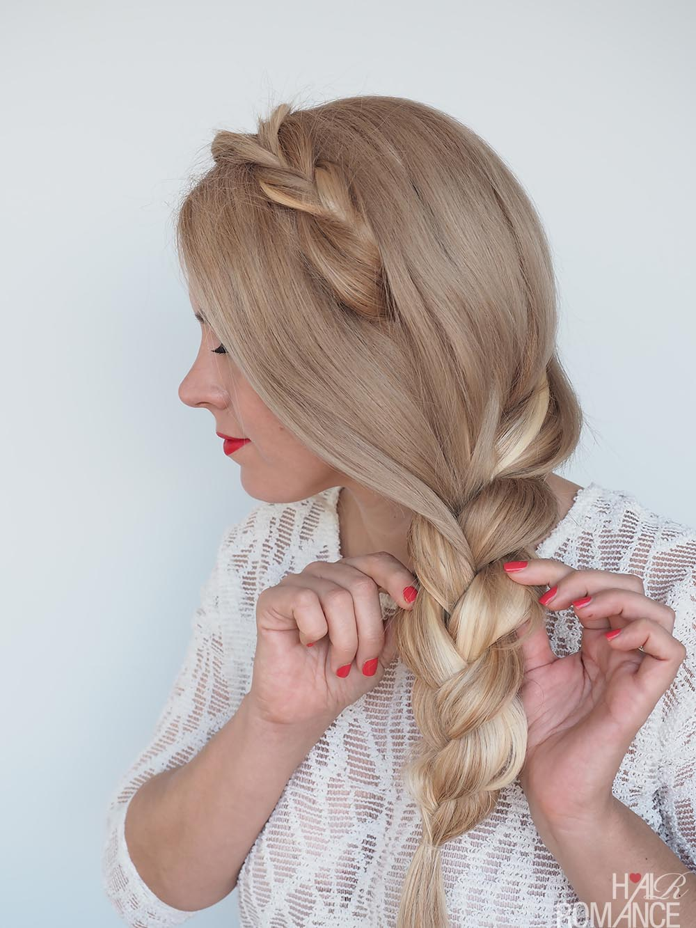 Hair Romance - Side braid tutorial with hair extensions