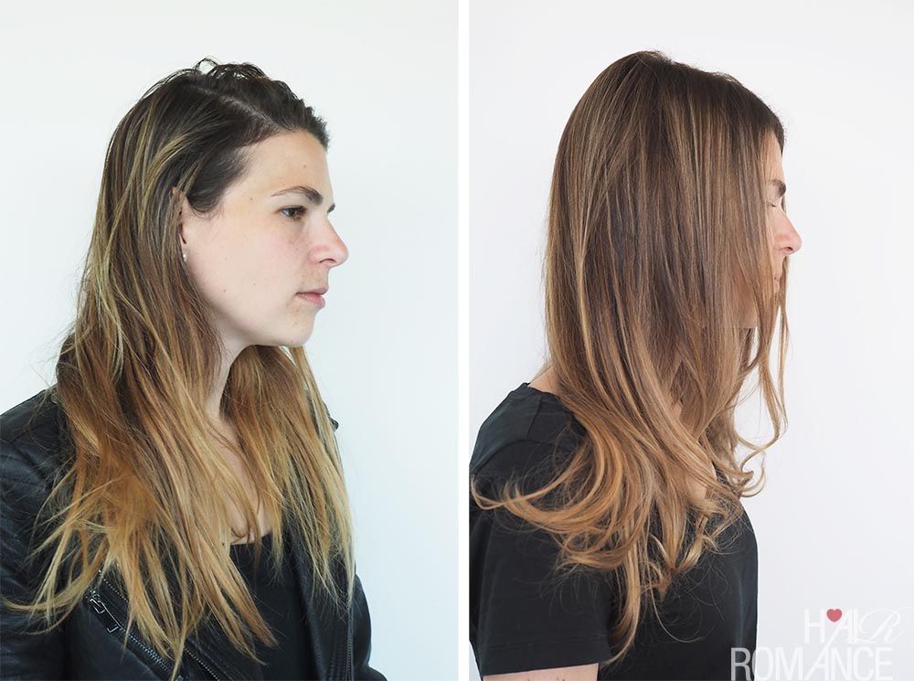 Schwarzkopf Hair Transformations - Lana - before after Fibre Therapy