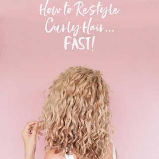 How to restyle curly hair fast