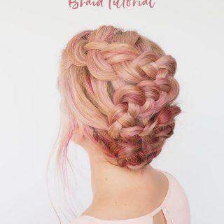 S Curve braid tutorial – A pretty braided upstyle