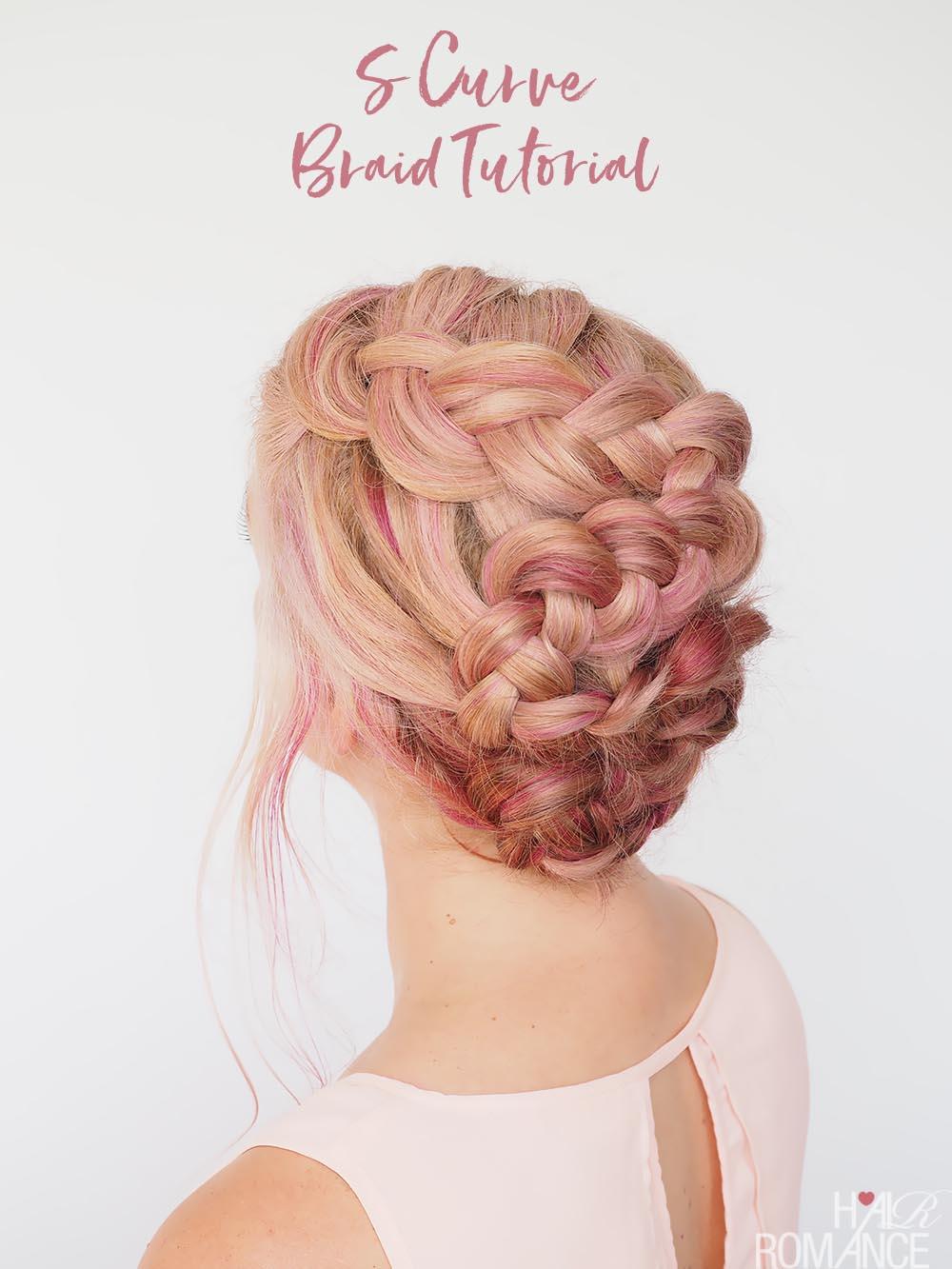 S Curve Braid Tutorial A Pretty Braided Upstyle Hair Romance