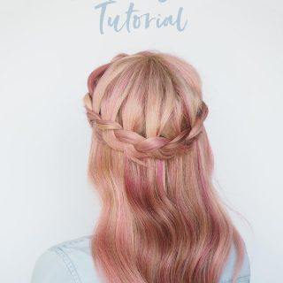 A new way to wear a crown braid (2 hairstyle tutorials in 1)
