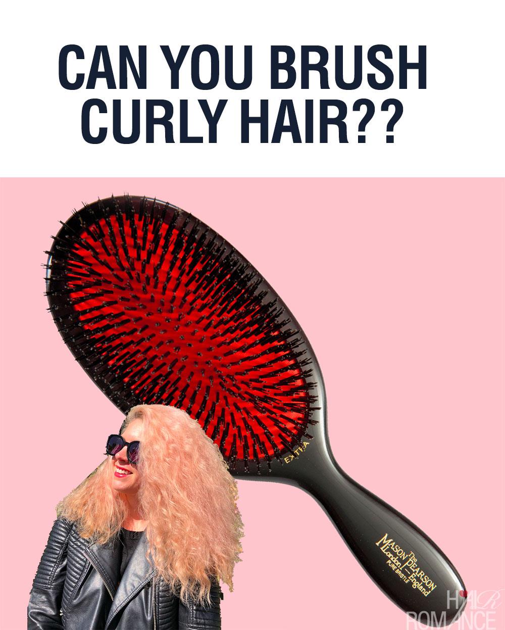 Can you brush curly hair - Hair Romance