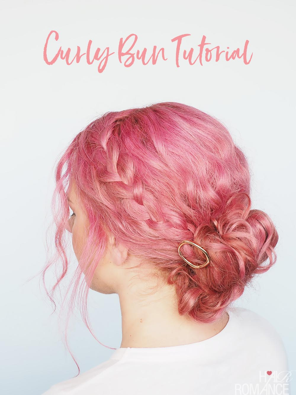 Fast and simple updo for curly hair