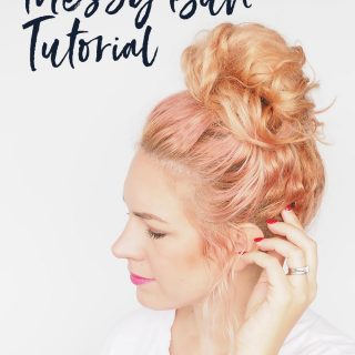 My easy messy bun tutorial
