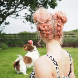 DIY Braided Space Buns Tutorial