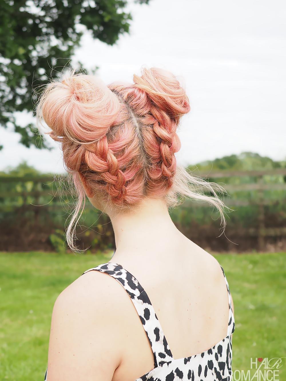 Diy Braided Space Buns Tutorial Hair Romance
