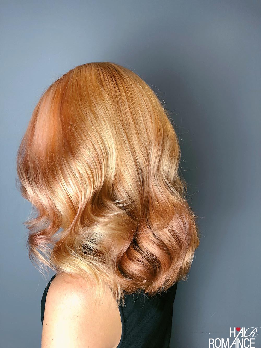 Rose gold hair by Jamie Stevens Salon