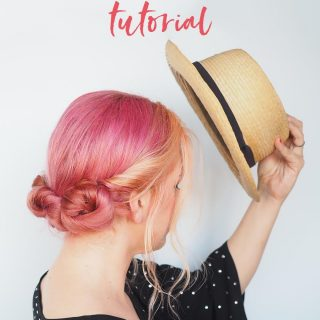 Easy hat hairstyle tutorial