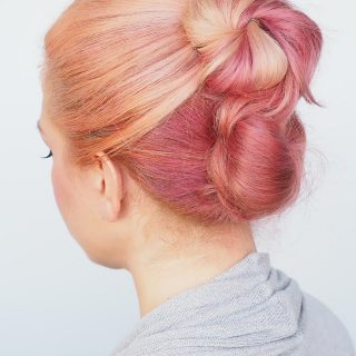 Easy work hairstyle for messy hair