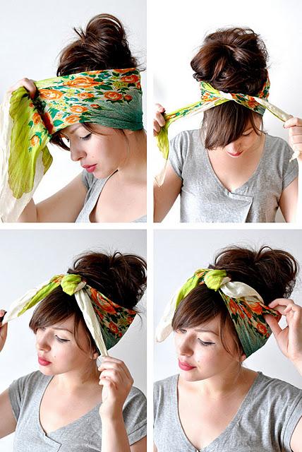How To Tie A Headscarf Hair Romance